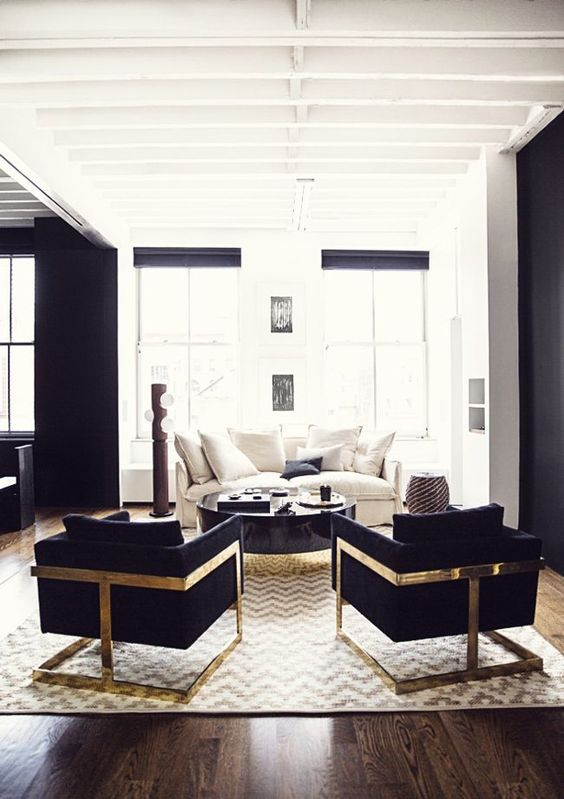 Living room, contemporary classic sofas, modern interior design ideas, modern lobby armchairs, cosmopolitan coffee table: