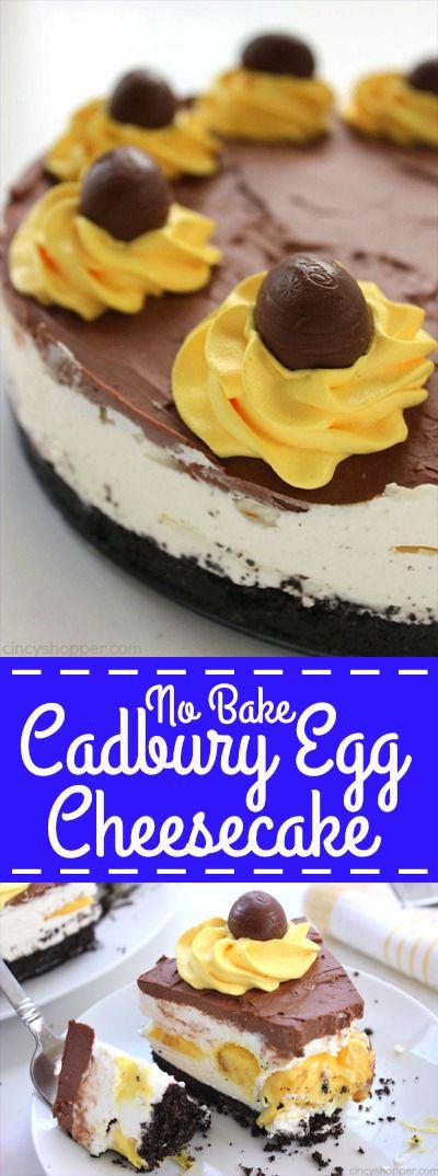 No bake cadbury egg cheesecake recipe cheesecake the for Dessert for easter dinner