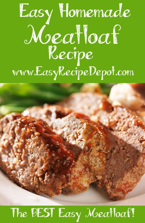 Easy Meatloaf Recipe. Just a few easy steps and ingredients to make an awesome meatloaf dinner. Anyone can make it!