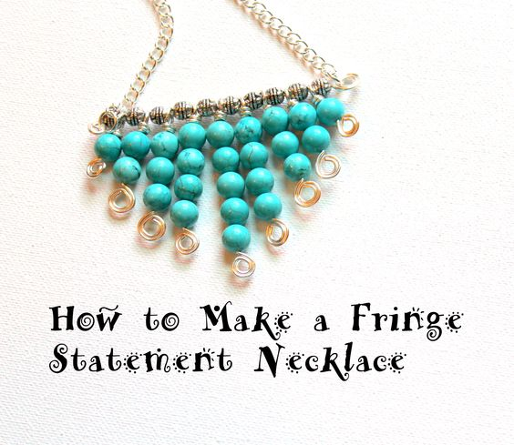 Make An Eye Catching Jewelry Stand From Plumber S Copper: How To Make A Fringe Statement Necklace