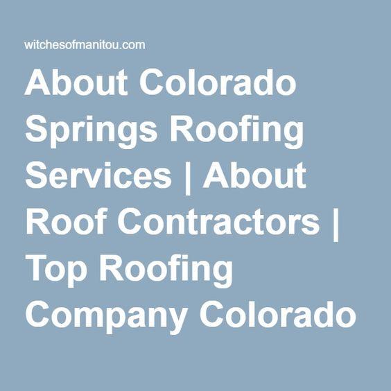 Colorado Springs Local #roofing #Colorado #Springs | Roofing Company  Colorado Springs | Pinterest | Roofing Companies