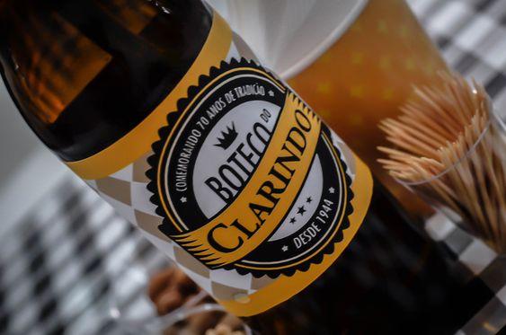 decoracao festa boteco personalizada:Rótulo de Cerveja Personalizada para Decoração da Festa Boteco de