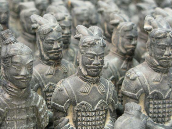 Xi an china terracotta warrior museum over