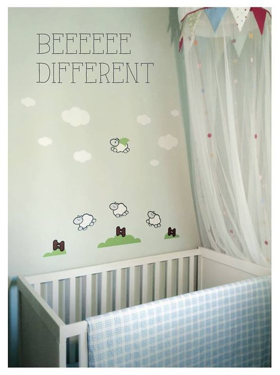 Beeeeee different!  Wall stickers for baby rooms by Stickaboo. https://www.facebook.com/stickaboo.gr