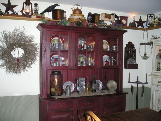 Country dining rooms primitives and dining rooms on pinterest for Primitive country dining room ideas