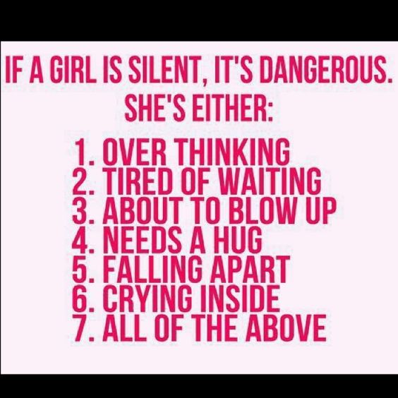 it explains me if im silent THERES SOMETHING WRONG and everyone knows that