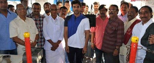 Ram Charan who has been idle since Toofan is back to work again (Yevadu has been shot long back). His new movie with creative director Krishna Vamsi was launched today at a temple in Film Nagar w...