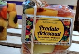 Sabonete barra de frutas tropicais