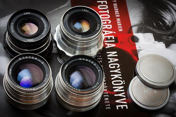 Screw mount FSU rangefinder lenses of mine
