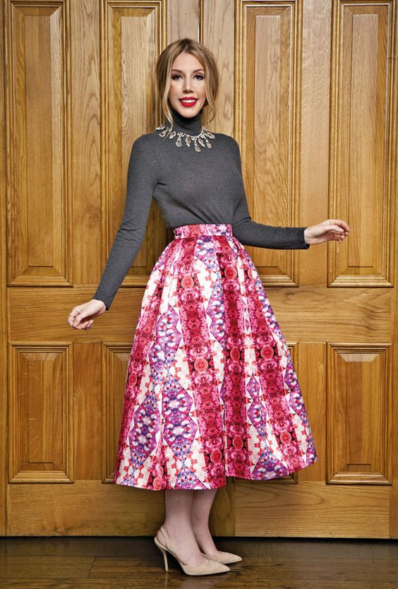 Katherine Ryan in Passionate About Vintage for the Daily Express
