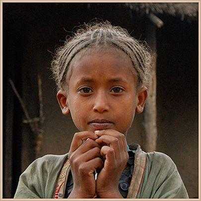 Oromo girl hair