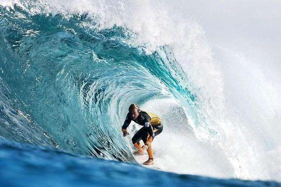Josh Kerr, Surfer, bei den Surf-Weltmeisterschaften in West-Australien.