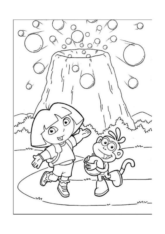 Dora Explorer Tegninger til Farvelægning. Printbare Farvelægning for børn. Tegninger til udskriv og farve nº 30