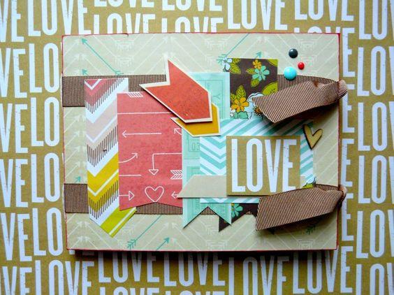 San Valentín. Mini Album LOVE. Valentine's Day. #AmericanCrafts