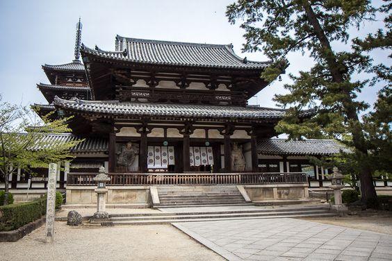 horyuji, japan, world's oldest wooden building, near nara, temple, history…