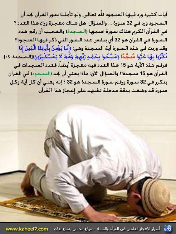 صورة وآية: آيات السجود في القرآن: