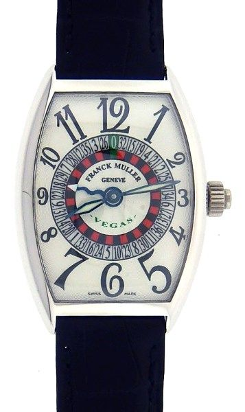 Franck Muller 5850 Vegas 18k White Gold Watch