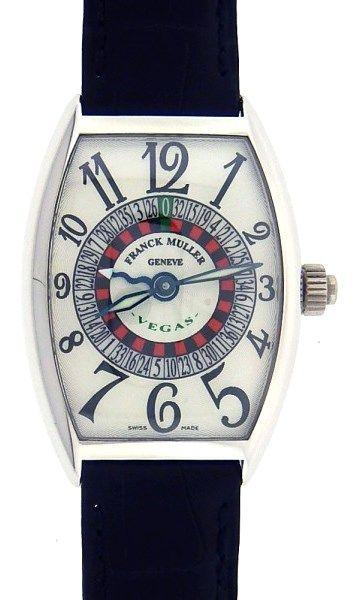 Franck Muller 5850 Vegas 18k White Gold Watch