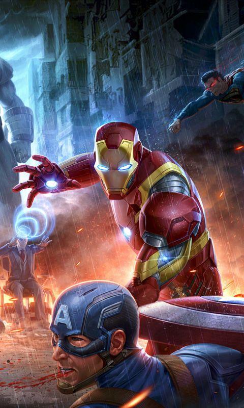 Superheroes Fight Marvel Avengers Vs Justice League Dc Comics 480x800 Wallpaper Avengers Vs Justice League Marvel Wallpaper Superhero