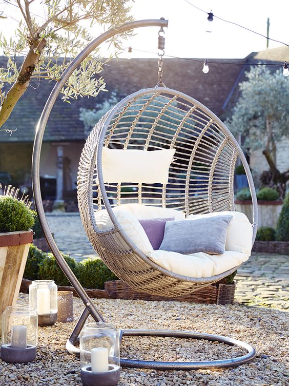 NEW Indoor Outdoor Hanging Chair - NEW FOR SPRING - Outdoor Living Cox and Cox