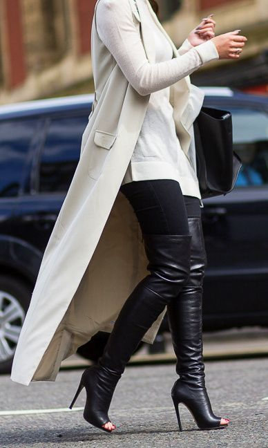 Leather Thigh #Boots