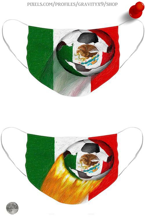 Mexico Soccer Ball Face Mask For Sale By Gravityx9 Designs In 2020 Mexico Soccer Soccer Ball Face Mask
