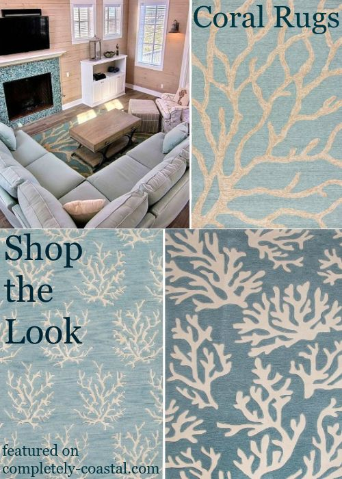 Coastal Coral Reef Branch Rugs Decor Ideas For Indoors Outdoors Rug Decor Beach Theme Decor Indoor