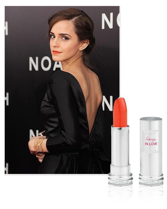 Emma Watson et son rouge à lèvres vermillon