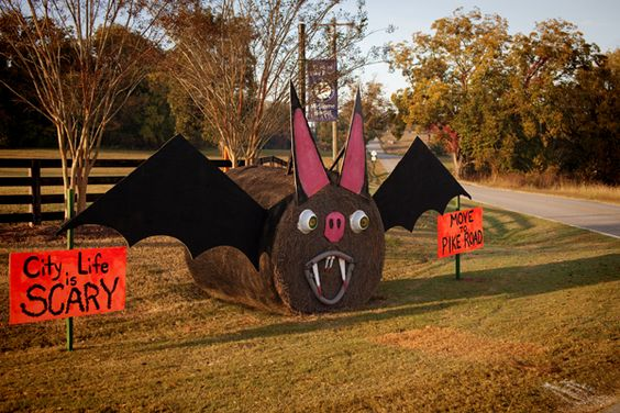 Hay Bale Decorating Bat: