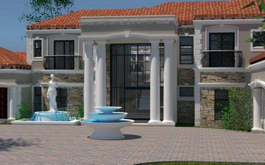 4 Bedroom House Plan Design Double Storey 4 Bedroom House Design Tuscan Architecture House Plans For Sale Double Storey House Plans House Plans South Africa