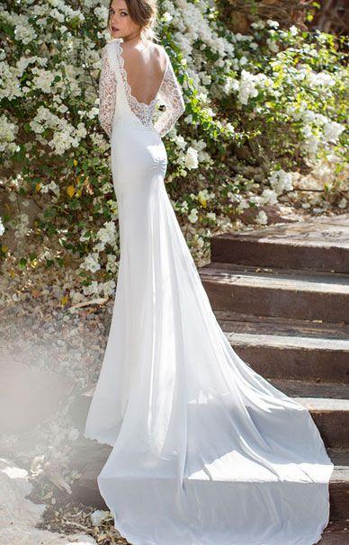 Платье свадебное с открытой спиной купить