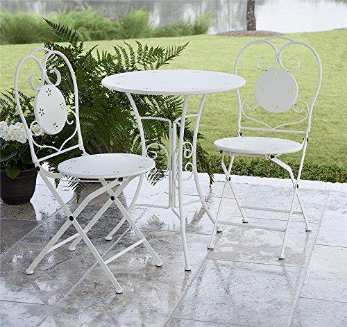 Special Offers Cosco Outdoor Bistro Set 3 Piece Folding White