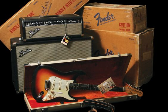 1964 Fender Stratocaster with matching Bandmaster