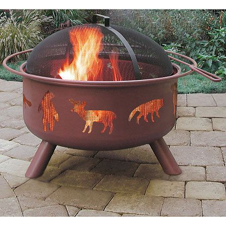 Gander Mountain® > Landmann Big Sky Wildlife Georgia Clay Fire Pit - Camping : Camping gear, tents, shelters, sleeping bags, outdoor cooking, outdoor furniture, tailgating, coolers, kayaks, lights, backpacks