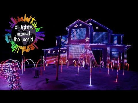 Christmas Light Show Synced To Music There Are Many Different