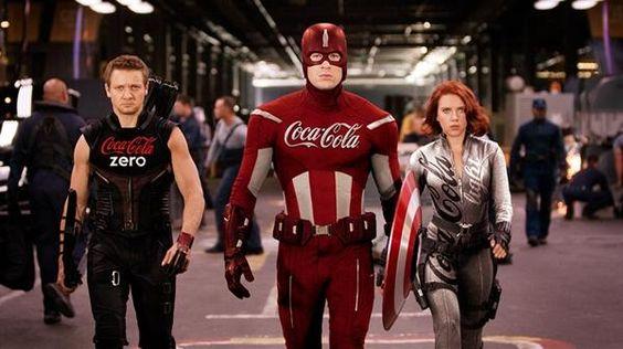 The Avengers patrocinados pela Coca-Cola