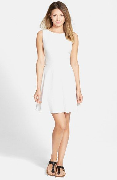 One Clothing Bow Back Skater Dress available at #Nordstrom