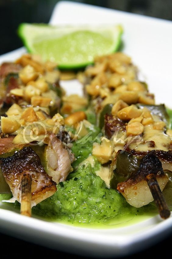 Terapia do Tacho: Espetadas de peru com molho Satay (Turkey kebabs with Satay sauce)
