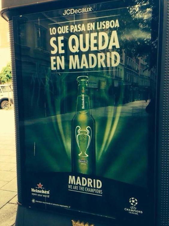 Lo que pasa en Lisboa se queda en Madrid #publicidad #OOH #Exterior