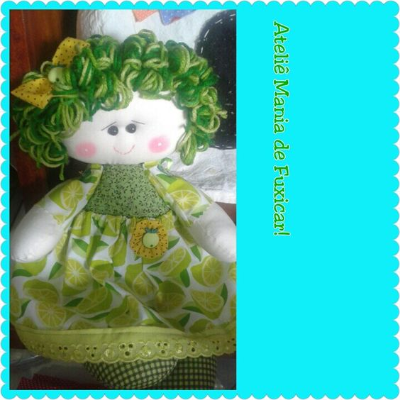 Bonequinha de pano limãozinho