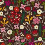 Carolyn Gavin Petite Fleur Swallows Wood [WF-39521-3] - $10.95 : Pink Chalk Fabrics is your online source for modern quilting cottons and sewing patterns., Cloth, Pattern + Tool for Modern Sewists