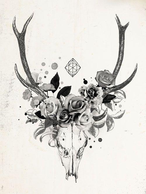 Goat skull pesquisa google inspira es pinterest for Flowers for aries woman