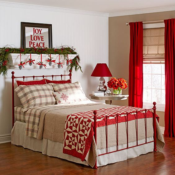 Decor Ideas For Guest Rooms: Love Joy Peace Lettering Christmas Stencil