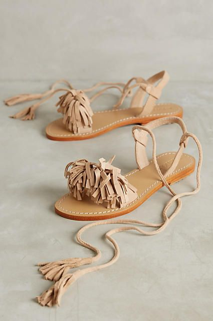 Mystique Eilan Sandals - anthropologie.com  DIY sandal refashion