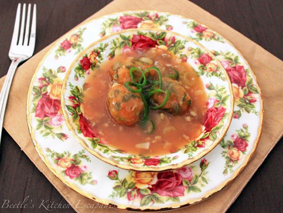 Vegetable Manchurian - an Indian Chinese dish
