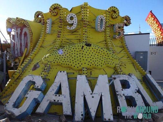 The Neon Museum für alte Leuchtreklamen in Las Vegas, Nevada