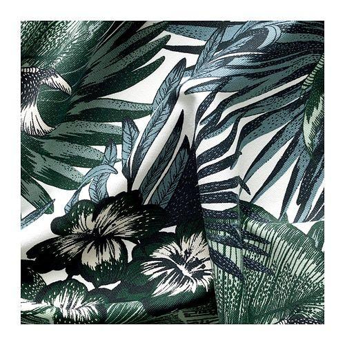 Torgerd Fabric White Green 150 Cm Ikea Fabric Tropical Fabric Ikea