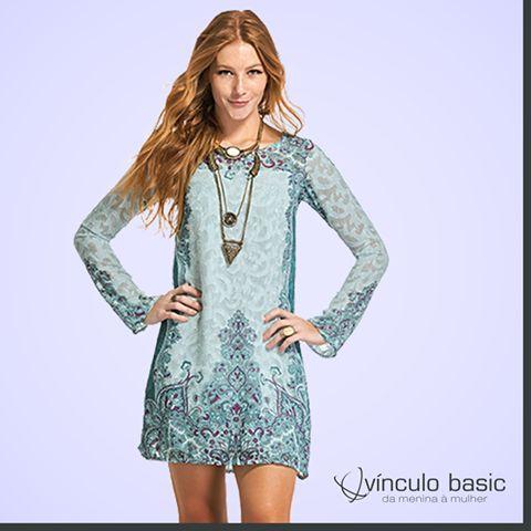 Ficou a semana toda pensando no look do finde? A resposta se encontra nesse vestido deuso!   http://www.vinculobasic.com.br/ #tgif #sabado #fimdesemana