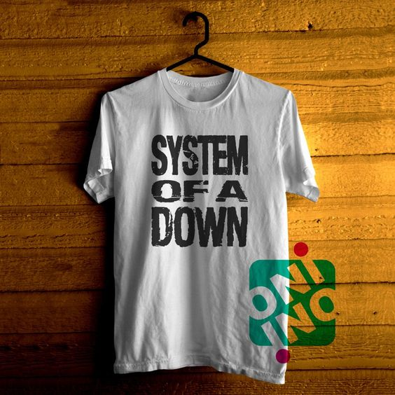 Low price only $16.00 ,System of a Down Logo Tshirt For Men / Women Shirt Color Tees