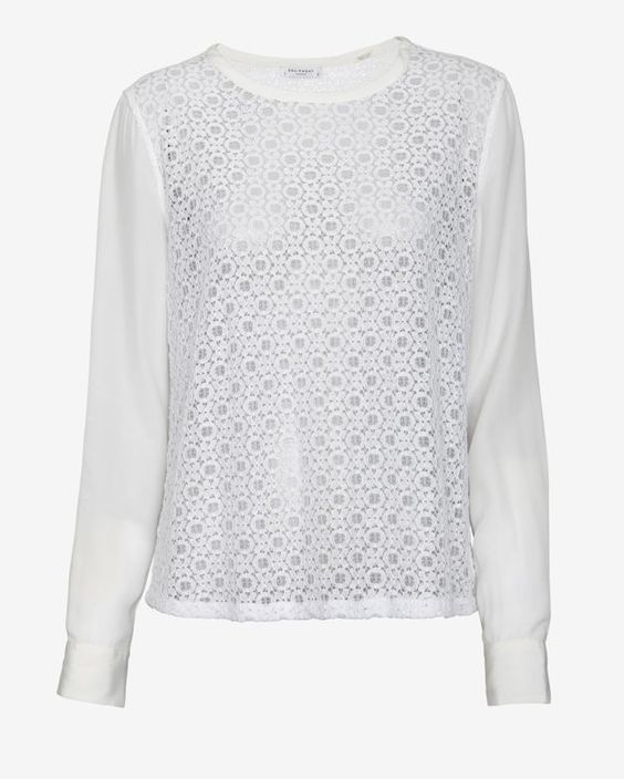 floral lace silk pullover / equipment